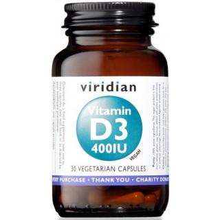 VIRIDIAN VITAMIN D3 400IU 30CP